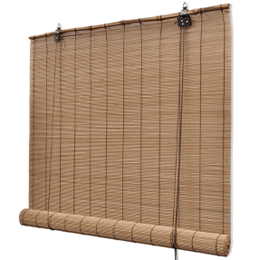 brown bamboo roller blinds